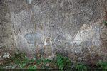 Base du mur nord avec des blocs du 12e siècle