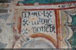 Cartouche mentionnant la date de la réalisation des fresques : 10 novembre 1473