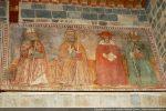 Fresque des quatre docteurs de l'Eglise: SS. Augustin, Grégoire, Jérôme et Ambroise