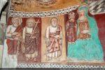 Vierge à l'Enfant et apôtres: Jean, André et Pierre