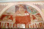 Abside: Christ en majesté entouré du Tétramorphe et bandeau du collège des Apôtres