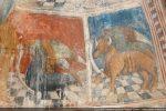 Tétramorphe: aigle aux plumes de paon (Jean) et taureau (Luc)