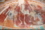 Abside de gauche: Christ en majesté entouré, à gauche, de la Vierge en orante; à droite, de Sainte Christine présentant le donateur (à genou)