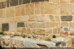 Soubassement du mur sud