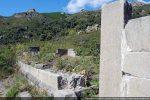 Mur sud remonté sur une assise au-dessus du bandeau mouluré