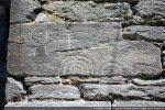 Pierre gravée placée dans le campanile