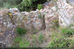 Mur occidental avec la porte centrale qui a été murée