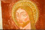 Détail d'une tête d'un apôtre. Les nuances de blanc donnent un relief particulier