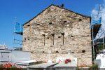 Façade ouest reconstruite au 20e siècle