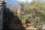 La nef, de petites dimensions, est en partie envahie par la végétation (vue vers l'ouest)