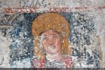 Thomas. Comme à Sermano, les apôtres se détachent sur un fond de lazulite