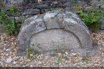 Arc et tympan d'une porte latérale