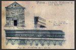 Détail des dessins de Gaubert: façade occidentale et corniche de l'abside (planche XI, coggia.com)