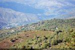Santa Maria de Rescamone dans le paysage dominant la vallée du Golo