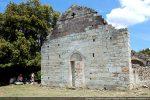 Façade occidentale du 12e siècle avec restauration et consolidation entreprises par la Fagec