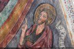 Détail de la tête de Saint Jean Baptiste le doigt tourné vers le Christ