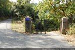 Embranchement du chemin menant au cimetière sur le D41 allant de Tralonca à Santa Lucia di Mercurio